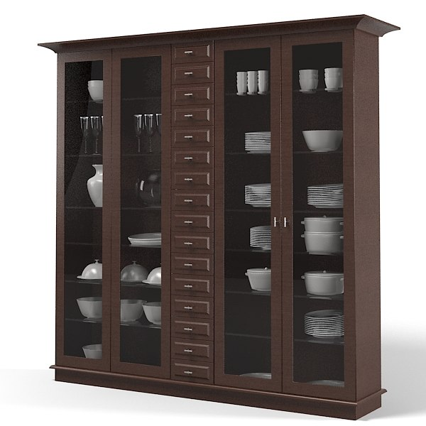 Modelo 3d Siematic Vitrina Armario De, Modern Display Cabinet
