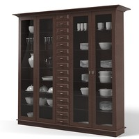 Siematic Display cabinet cupboard glass kitchen modern contemporary tableware