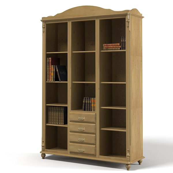 library cabinet 3d max