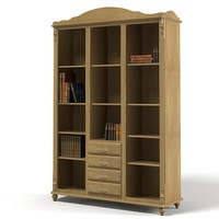lodge library cabinet 3d max
