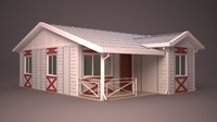 homes facade roof 3d model
