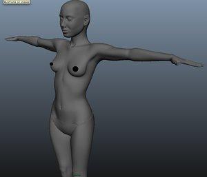 3d female modeled