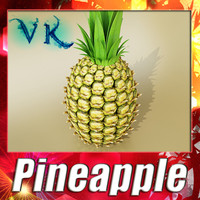 3d model of pineapple resolution