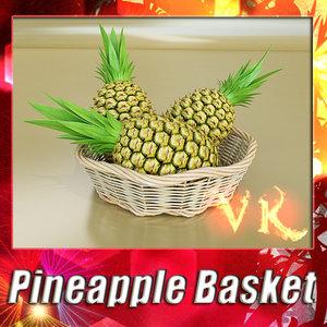 obj fruit basket pineapple