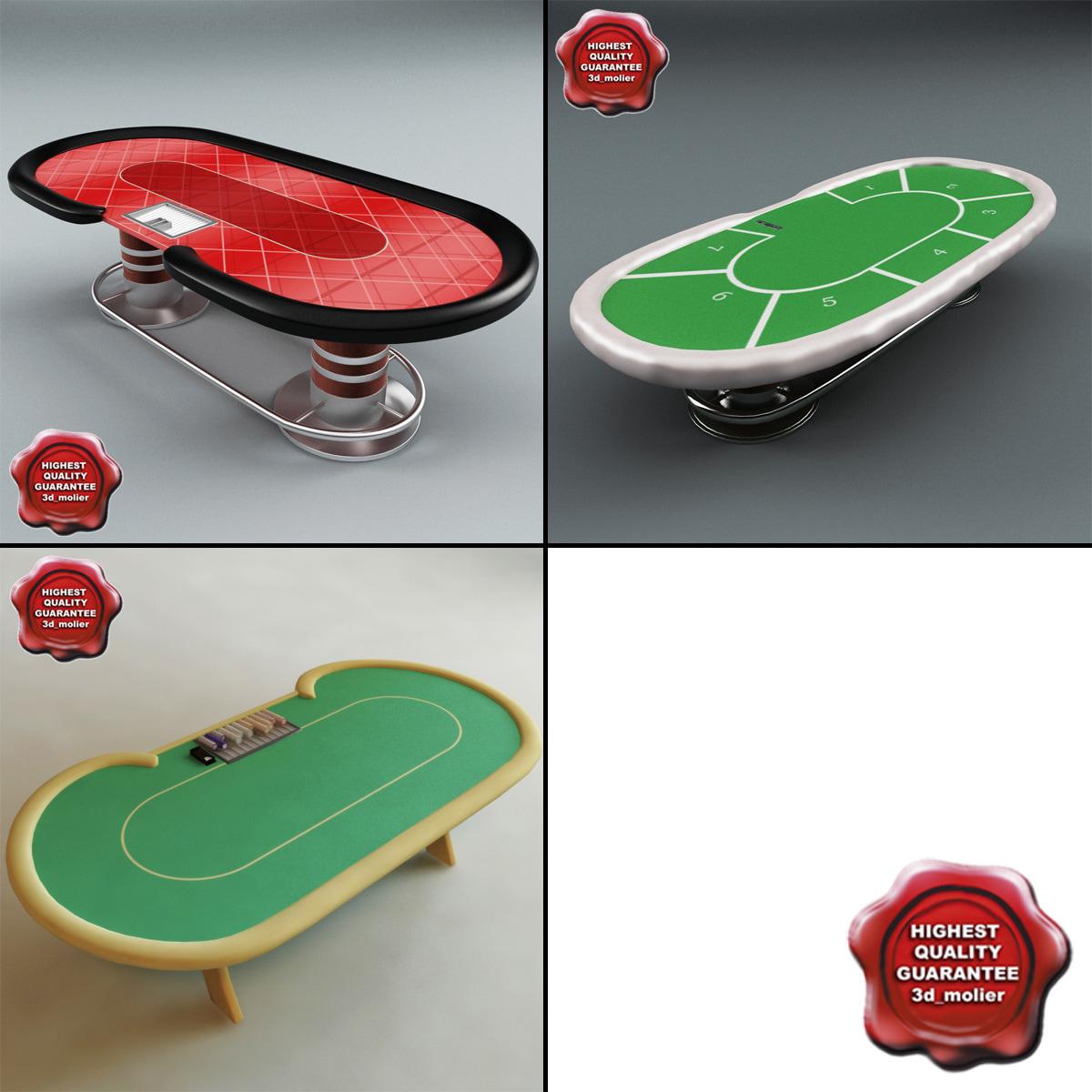 3d model poker tables