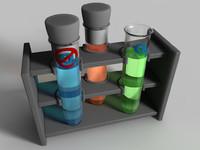 3d test tube model