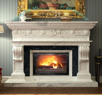 fireplace 36 3d max