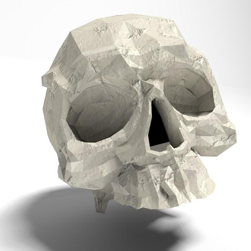 skull r12 3d model