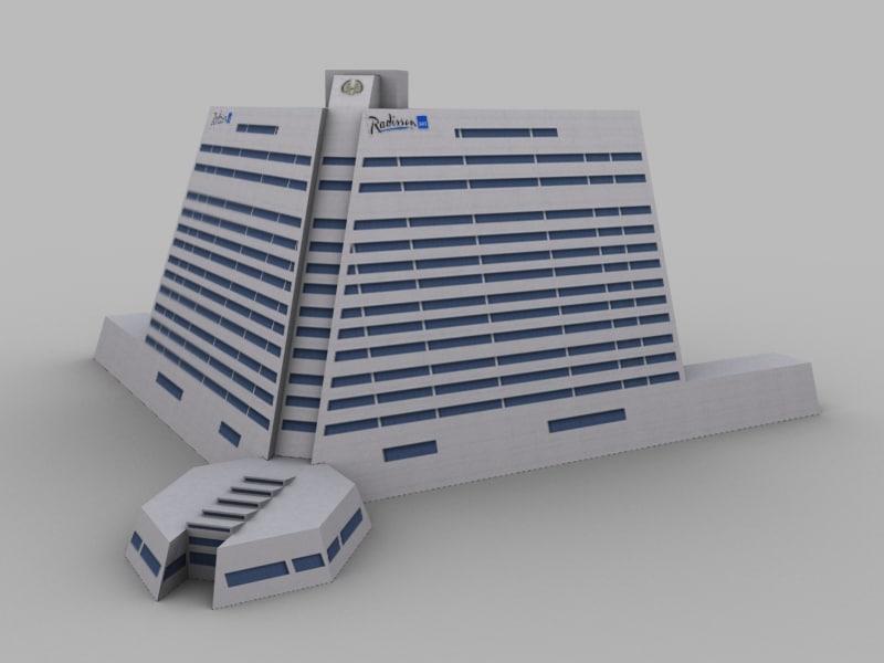 3d sharjah radisson model