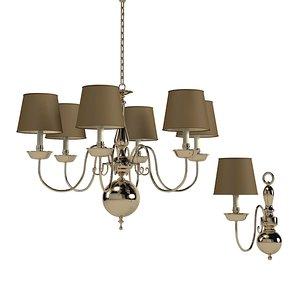 3d visual comfort chandelier model