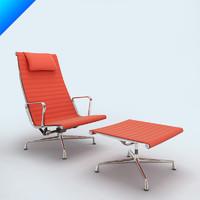 3d model ea 124 aluminium chair