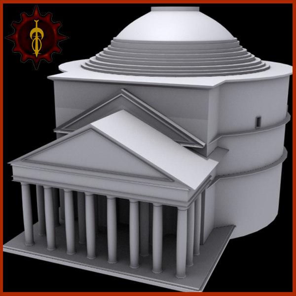 pantheon famous landmark 3d 3ds