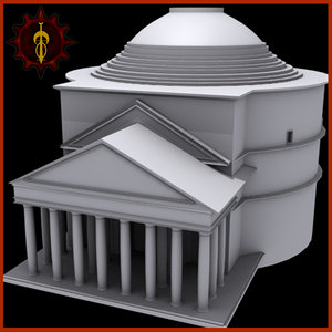 pantheon famous landmark 3d 3ds