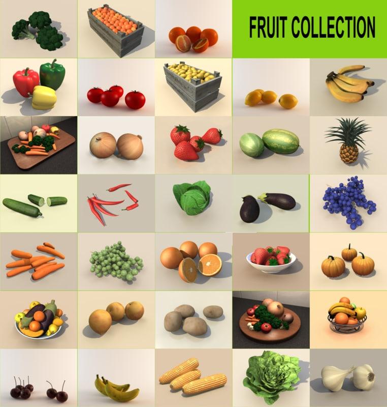 3d fruit