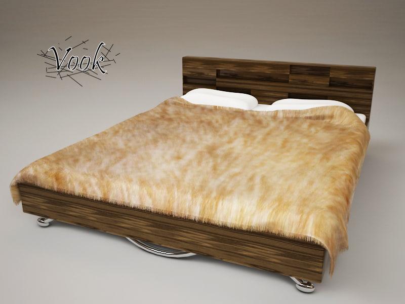 3d bed fur furniture
