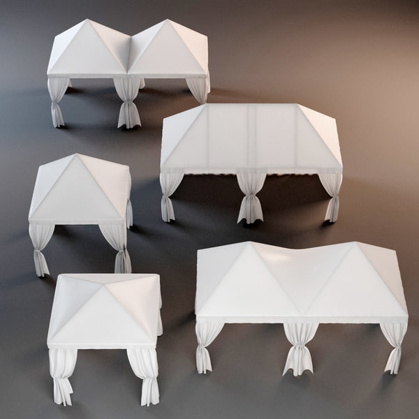 3dsmax partytents tents 2 3