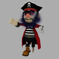 3d pirate cartoon rigged