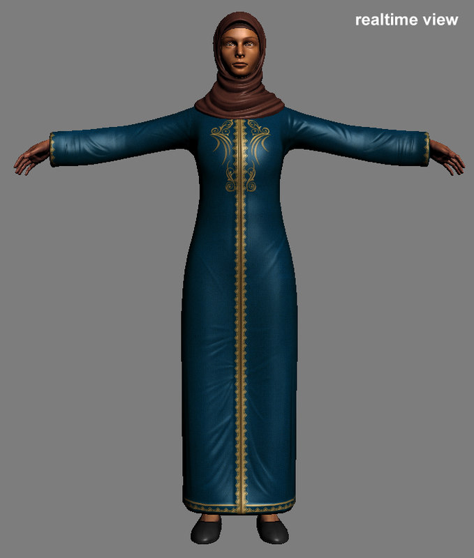3d model eastern female