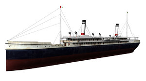 3d model 1900 steamship
