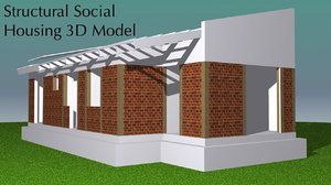 3d small housing structurally modeled