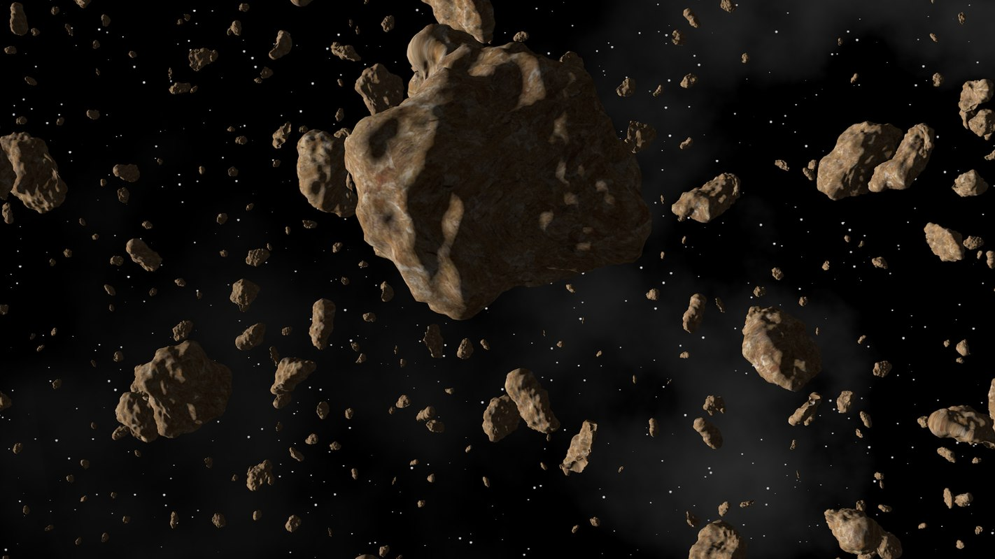 3d asteroid space