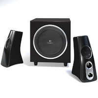 3d model logitech speakers z532