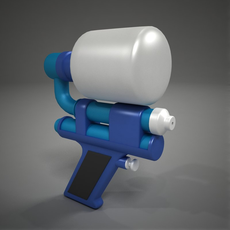 small water gun 3d x