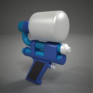 small water gun 3d x
