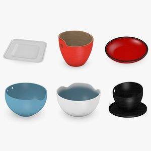 asian bowls 3d max