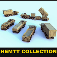 hemtt army trucks 3d model