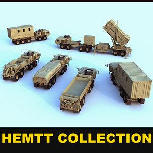 hemtt army trucks 3d model