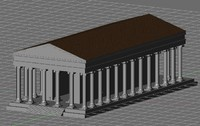 greek temple 3d 3ds