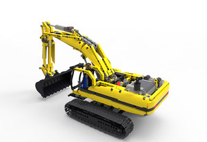 3d excavator 8043 lego