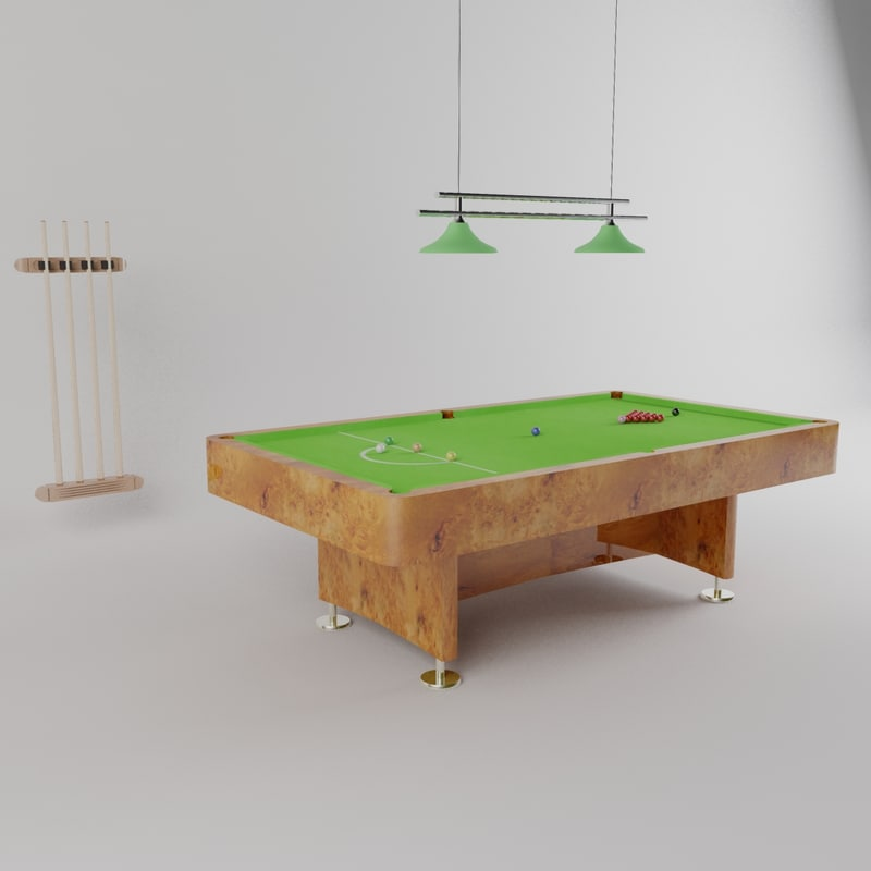 cues snooker table 3d max