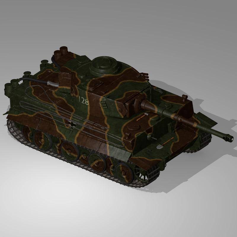 german wwii tank tracks 3d max