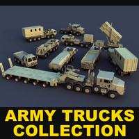 Army trucks collection