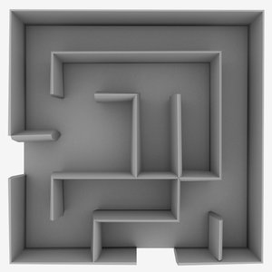 free small maze 3d model