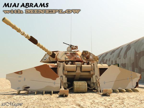3d tank plow model