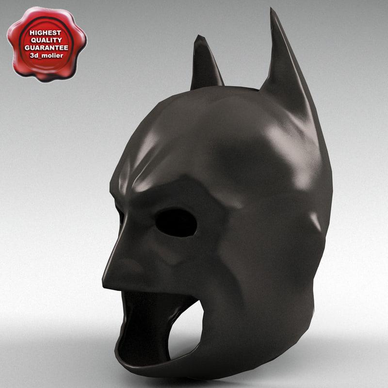 3d model of batman mask