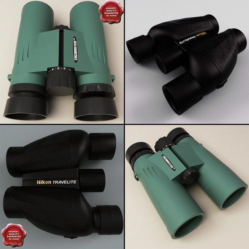 3d model binoculars nikon travelite