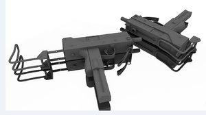 machine pistol 3d obj