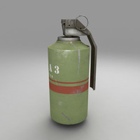 3ds max gas grenade bomb