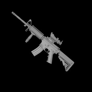 3d model m4a1 carbine rifle m4