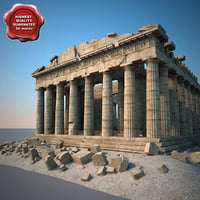 3d max parthenon modelled