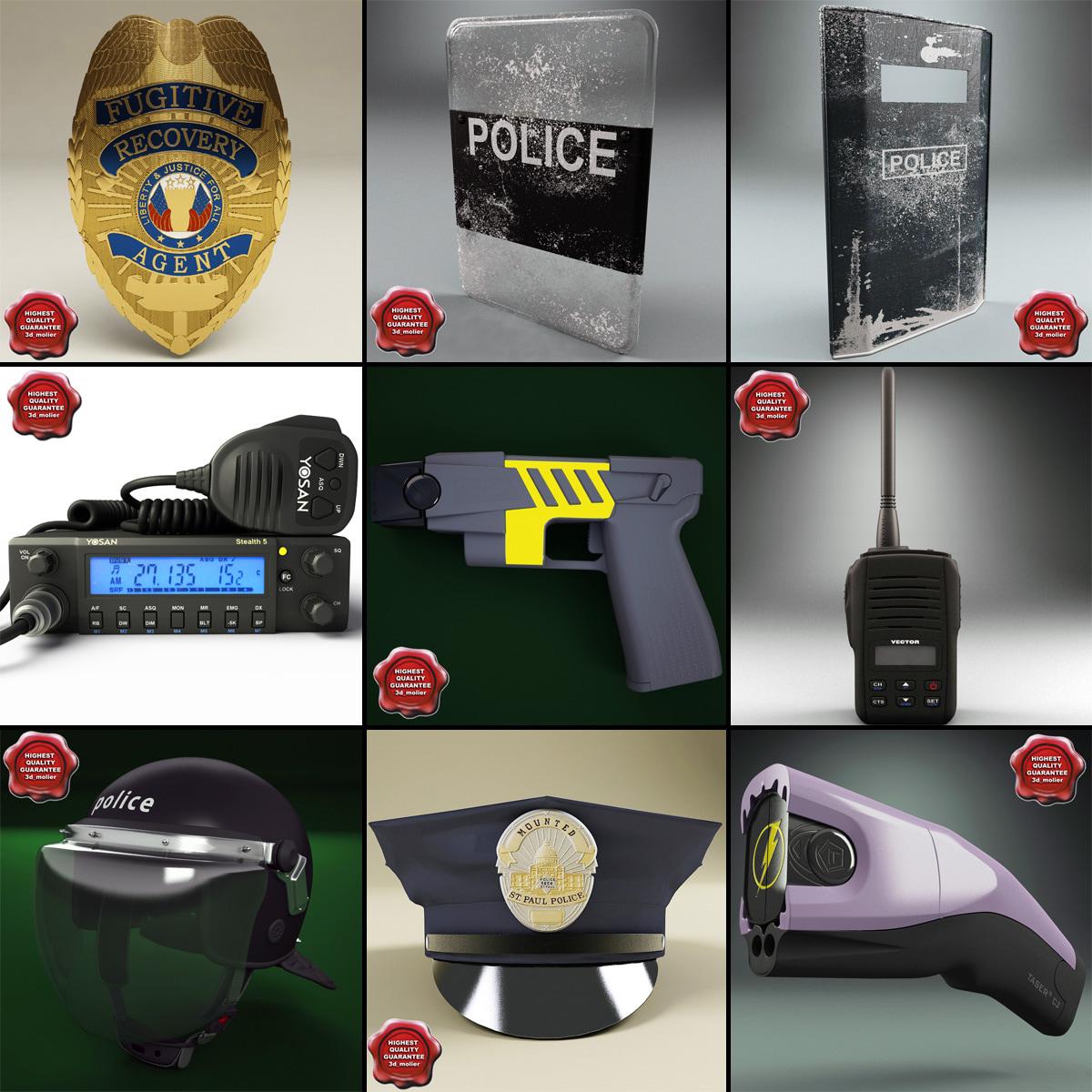 maya police equipment v2