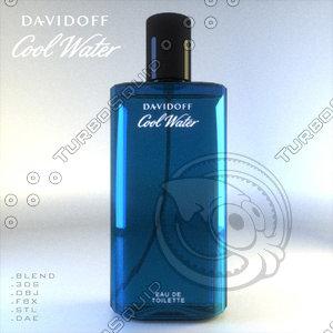 3d model of davidoff perfume