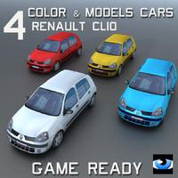 4 Color & Models Cars Clio