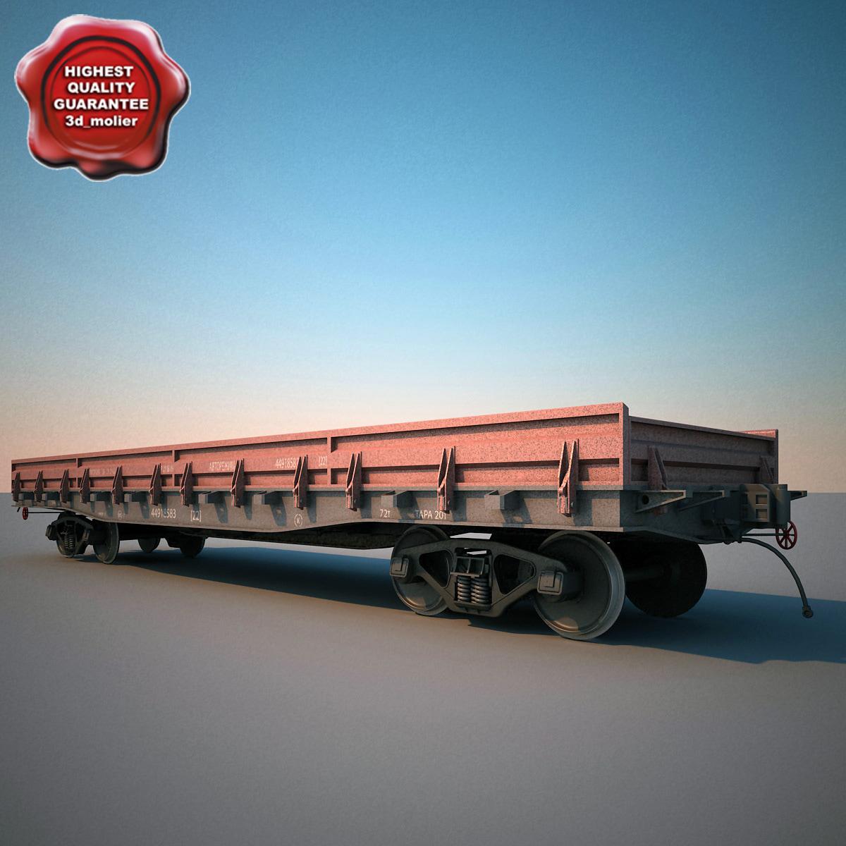 railroad train gondola 3d model