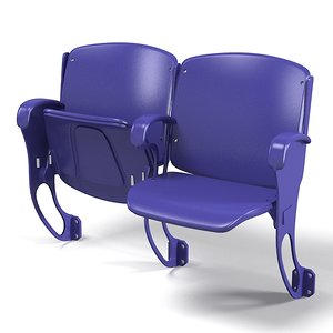 stadium arena chair 3d fbx