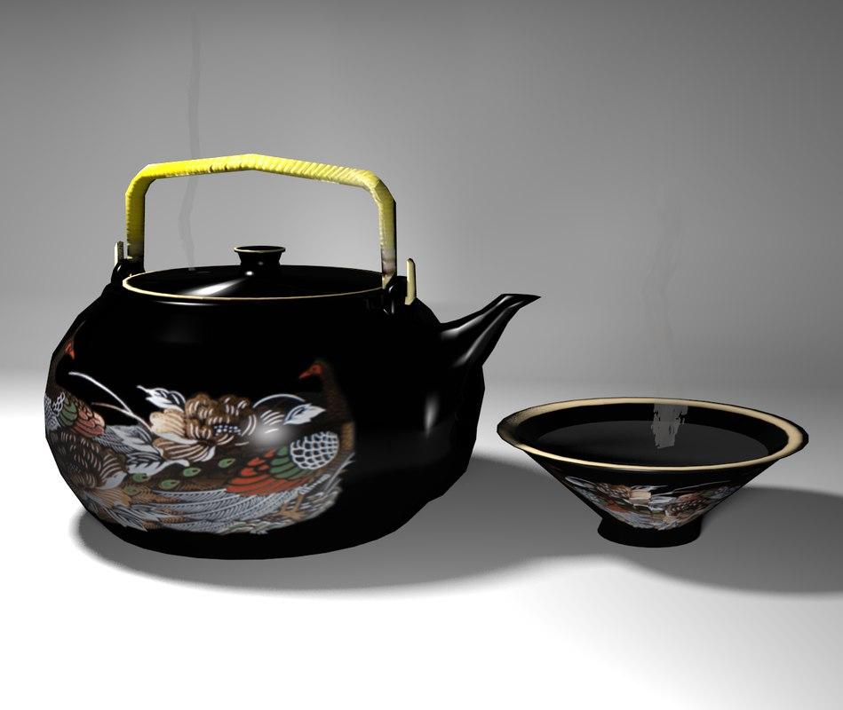 3ds max oriental teapot set lo